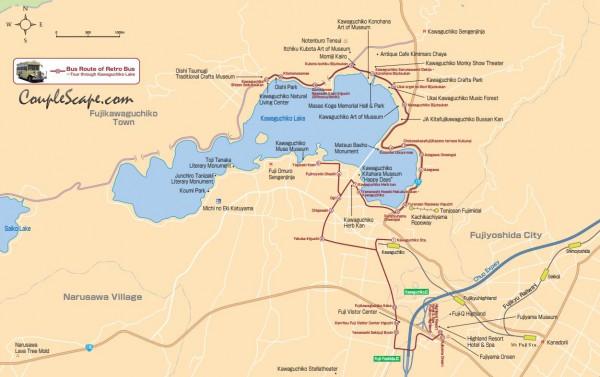 kawaguchiko map