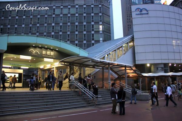 เที่ยวญี่ปุ่น at Shimbashi Station (Yurikamome Line).