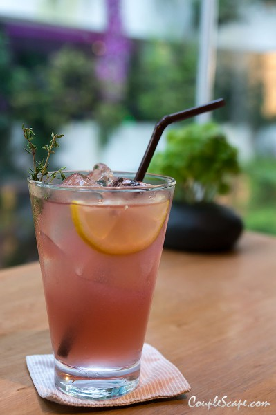 Pink Lemonade with Thyme