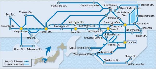 JR-West Wide Map