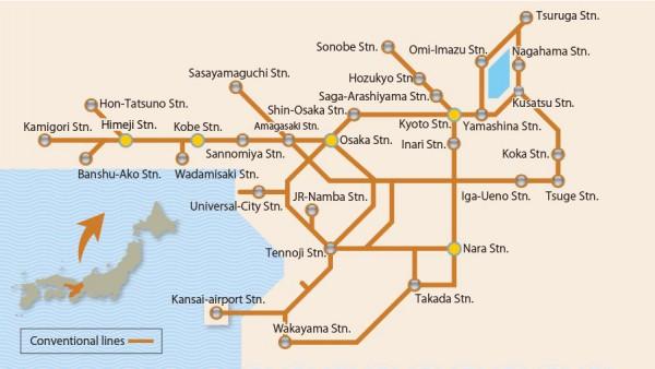 JR-West Map