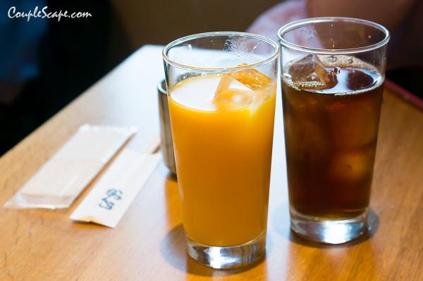 น้ำส้ม กับ ชาอู่หลง