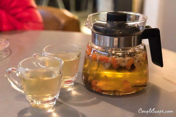 boat fruited tea