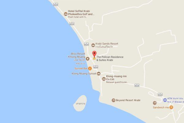 Pelican Krabi แผนที่
