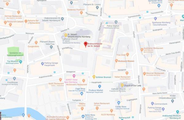 Bratwursthausle Map
