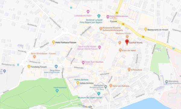 Gasthof Krone Map